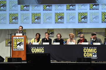 Angela Bassett Kathy Bates The 'American Horror Story' And 'Scream Queens' Panel at Comic-Con International 2015