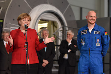 Angela Merkel Merkel Visits ESA Astronauts Training Center