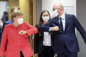 Angela Merkel Charles Michel European Best Pictures Of The Day - July 17
