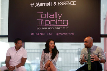 Angela Simmons Marriott International Partners With Laz Alonso, Angela Simmons, Boris Kodjoe And Nicole Ari Parker For Totally Tripping Panel Discussion During ESSENCE Festival