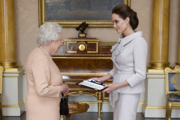 Angelina Jolie Queen Elizabeth II Honors Angelina Jolie