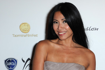 Anggun Celebs Arrive at the Lancia Cafe in Italy