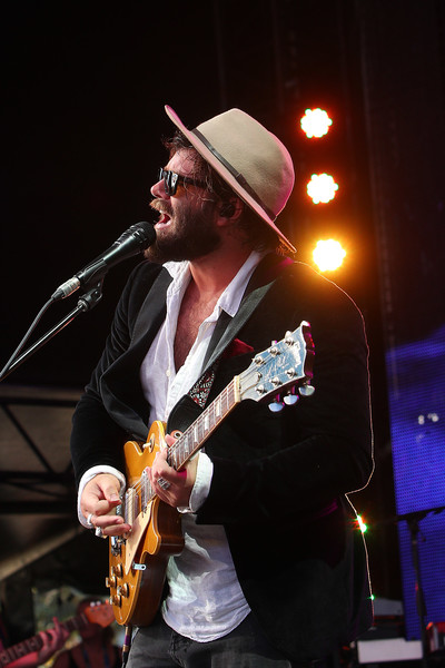 Off Court At The 2019 Australian Open [string instrument,music,performance,musician,entertainment,performing arts,guitar,musical instrument,music artist,angus stone,ao live stage,melbourne park,australia,court,australian open]