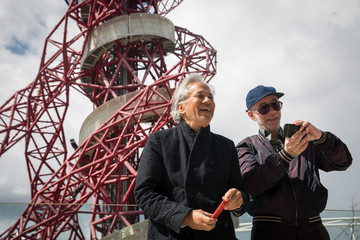Anish Kapoor Slides Are Fitted Around The Olympic Orbit Sculpture