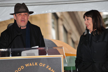 Anjelica Huston Danny Huston Anjelica Huston Honored On The Hollywood Walk Of Fame