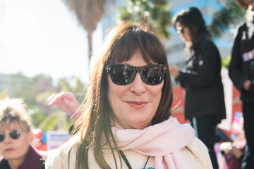 Anjelica Huston Women's March Los Angeles