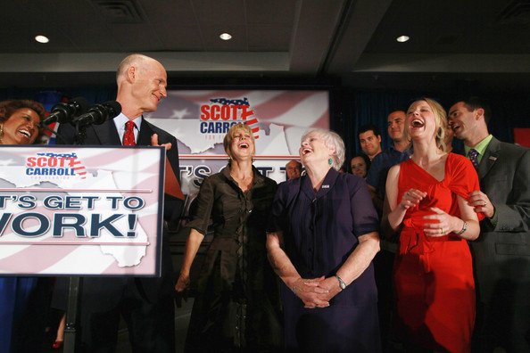 GOP Candidate For Governor Rick Scott Declares Victory