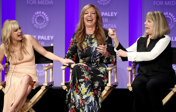 The Paley Center For Media's 35th Annual PaleyFest Los Angeles - 'Mom' - Inside [television show,event,yellow,fashion,performance,award,award ceremony,talent show,dress,employment,competition,mom,actresses,allison janney,mimi kennedy,anna faris,los angeles,paley center for media,paleyfest,cbs]