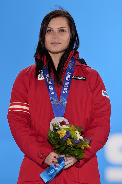 Anna Fenninger Pictures Winter Olympics Medal