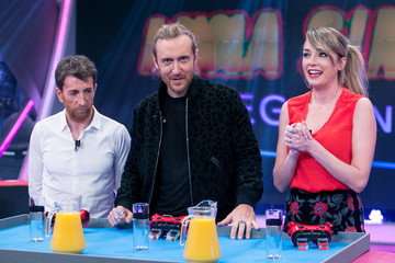 Anna Simon David Guetta Attends 'El Hormiguero' TV Show