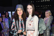 Pat Cleveland and Kareon Elson attend the Anna Sui front row during New York Fashion Week: The Shows at Gallery I at Spring Studios on February 11, 2019 in New York City.