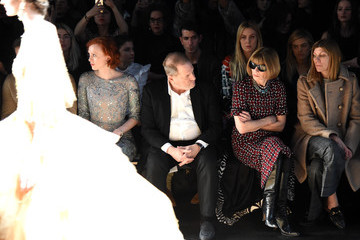 Anna Wintour Virginia Smith Marchesa - Front Row - Fall 2016 New York Fashion Week: The Shows