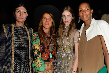 Anna dello Russo Front Row at Valentino