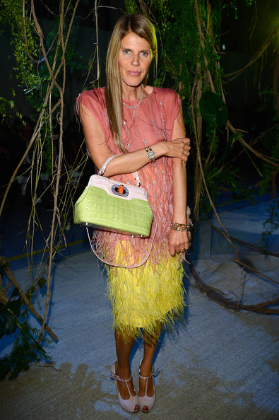 Anna dello Russo - PFW: Arrivals at Moncler Gamme Rouge