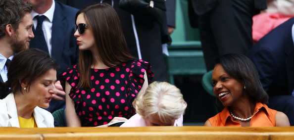 Anne Hathaway and Condoleezza Rice - The Championships - Wimbledon 2011: Day Twelve