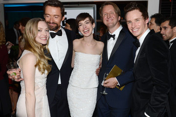 Anne Hathaway Eddie Redmayne NBCUniversal Golden Globes Viewing And After Party - Inside