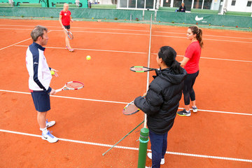 Anne Keothavong Romania v Great Britain - Fed Cup: World Group II Play Off: Day Two