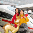 Annemarie Carpendale Bambi Trophy Travels From Munich To Berlin For Award Show