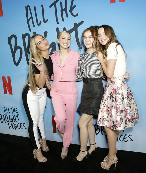 "Netflix Premiere of ""All the Bright Places"" [fashion,event,premiere,fun,fashion design,style,anna cathcart,addison easterling,lilia buckingham,annie leblanc,l-r,bright places,california,hollywood,netflix,premiere,celebrity,fashion,public relations,supermodel,socialite,carpet,model,pink m,beauty.m,event]"