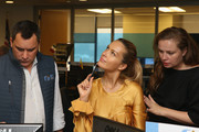 Model Petra Nemcova places a trade during  Annual Charity Day hosted by Cantor Fitzgerald, BGC and GFI  at GFI Securities on September 11, 2018 in New York City.