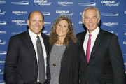 Howard Lutnick, Edie Lutnick and Tony Blair attend the Annual Charity Day hosted by Cantor Fitzgerald, BGC and GFI at Cantor Fitzgerald on September 11, 2018 in New York City.