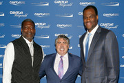 (L-R) Larry Johnson, Joe Valentine, and Craig Robinson attend the Annual Charity Day hosted by Cantor Fitzgerald, BGC and GFI at Cantor Fitzgerald on September 11, 2018 in New York City.