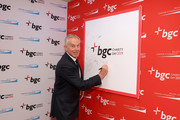 Tony Blair attends Annual Charity Day Hosted By Cantor Fitzgerald, BGC and GFI - BGC Office - Arrivals on September 11, 2019 in New York City.