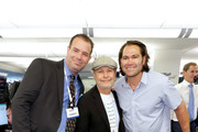 Billy Crystal (C) and Johnny Damon (R) attend the Annual Charity Day Hosted By Cantor Fitzgerald, BGC and GFI on September 11, 2019 in New York City.