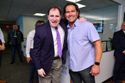 Richard Kind (L) and Johnny Damon attend the Annual Charity Day Hosted By Cantor Fitzgerald, BGC and GFI on September 11, 2019 in New York City.