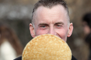 Gary Rhodes Annual Parliamentary Pancake Race Is Held At Westminster