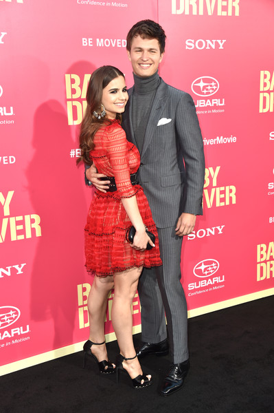 Premiere of Sony Pictures' 'Baby Driver' - Arrivals [baby driver,red,carpet,premiere,cocktail dress,flooring,event,red carpet,little black dress,arrivals,ballerina violetta komyshan,ansel elgort,california,los angeles,ace hotel,sony pictures,premiere]
