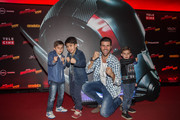 Pedro, Juan, Marcelo Ieie and Lucas attend the Sao Paulo Premiere of The Ant-Man and The Wasp at Cinépolis - Shopping JK Iguatemi on July 4, 2018 in São Paulo, Brazil.