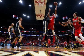 Anthony Davis Draymond Green Golden State Warriors vs. New Orleans Pelicans - Game Four