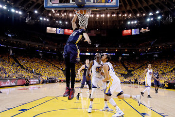 Anthony Davis Draymond Green New Orleans Pelicans v Golden State Warriors - Game One