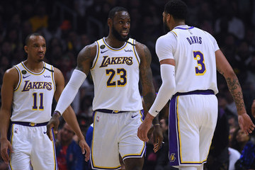 Anthony Davis LeBron James Los Angeles Lakers v Los Angeles Clippers