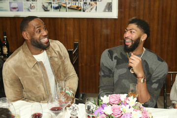 Anthony Davis LeBron James Haute Living Honors L.A. Lakers Superstar Anthony Davis With XO And Louis XIII