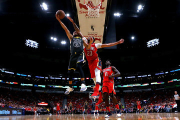 Anthony Davis Stephen Curry Golden State Warriors vs. New Orleans Pelicans - Game Three