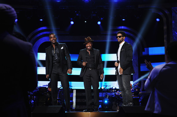 BET's Black Girls Rock 2012 - Show [entertainment,performance,event,stage,music artist,performing arts,musical theatre,heater,stage equipment,eric benet,anthony hamilton,luke james,l-r,new york city,paradise theater,bet,black girls rock 2012 - show]