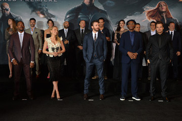 Anthony Mackie Joe Russo 'Captain America: The Winter Soldier' Premiere — Part 2