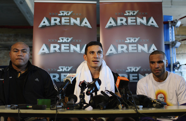 Sonny Bill Williams Training Session [news conference,event,competition event,team,sonny bill williams training session,anthony mundine,david tua,r,c,boxing alley,auckland,l,press conference,fight]
