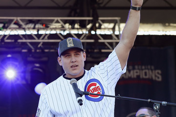 Anthony Rizzo Chicago Cubs Victory Celebration