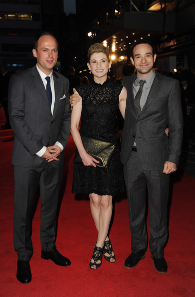 "Anthony Wilcox (L-R) Director Anthony Wilcox, Jodie Whittaker and Christian Cooke attends a screening of ""Hello Carter"" during the 57th BFI London Film Festival at Odeon West End on October 12, 2013 in London, England."
