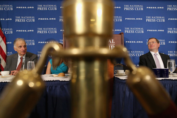 Anti-Tax Activist Grover Norquist And Ralph Nader Speak At The National Press Club