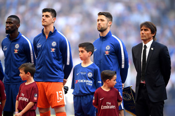 Antonio Conte Thibaut Courtois Chelsea vs. Manchester United - The Emirates FA Cup Final