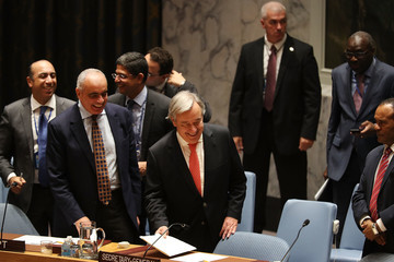 Antonio Guterres UN Security Council Meets to Discuss Rohingya Refugee Crisis