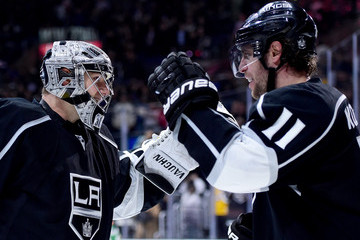Anze Kopitar Jonathan Quick Vancouver Canucks v Los Angeles Kings