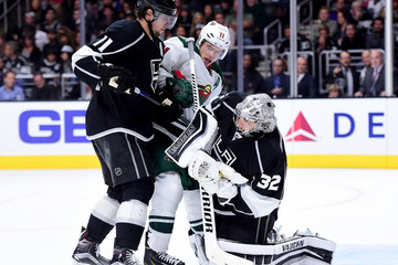 Anze Kopitar Jonathan Quick Minnesota Wild v Los Angeles Kings