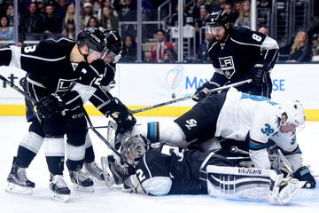 Anze Kopitar Jonathan Quick San Jose Sharks v Los Angeles Kings - Game Two