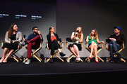 """(L-R) Alison Willmore, Lance Edmands, Amy Morton, Louisa Krause, Emily Meade and Kyle Martin attend Meet the Filmmaker: """"Bluebird"""" during the 2013 Tribeca Film Festival at the Apple Store Soho on April 19, 2013 in New York City."""