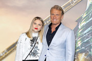 """Dolph Lundgren with his daughter Greta Lundgren attend the """"Aquaman"""" world premiere at Cineworld Leicester Square on November 26, 2018 in London, England."""